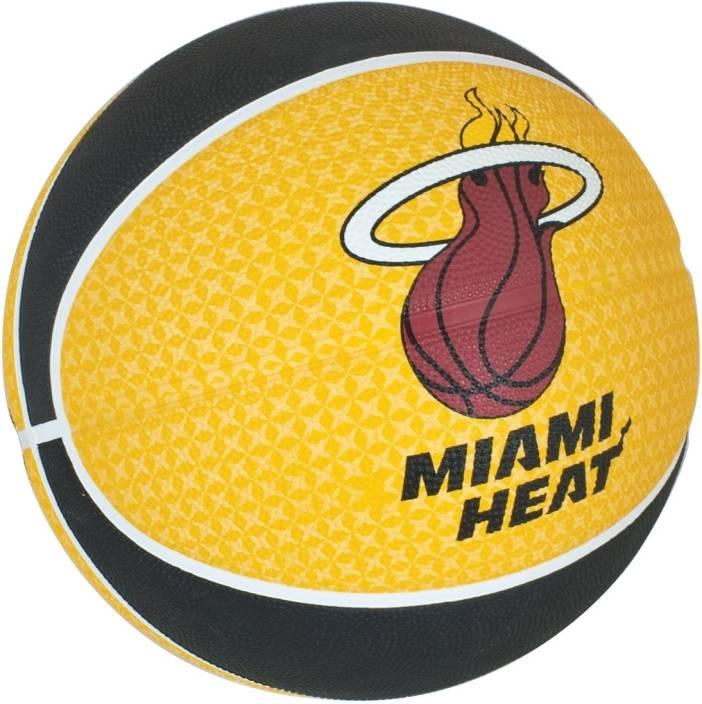 SPALDING Miami Heat Basketball -   Size: 7