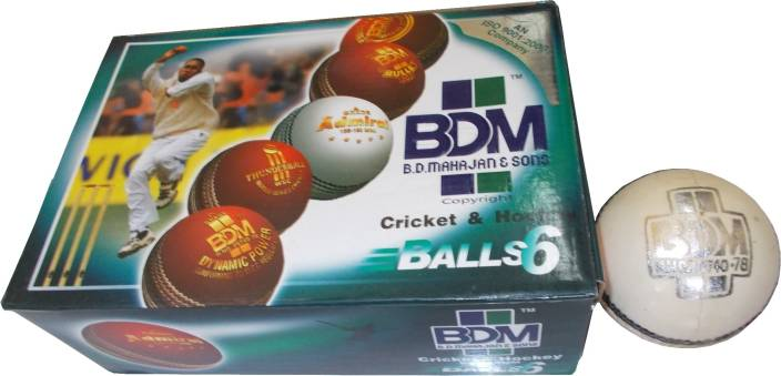BDM King Fisher Match-Ambassador Cricket Ball -   Size: Standard