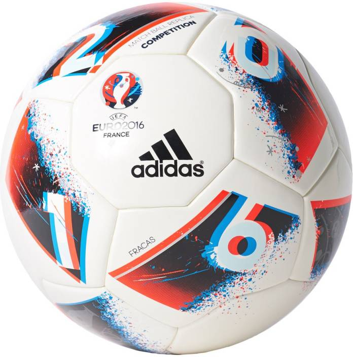 outlet store dc251 31975 ADIDAS EURO16 COMP Football - Size  5 (Pack of 1, White, Blue, Red, Silver)