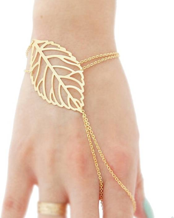 Femnmas Alloy Ring Bracelet