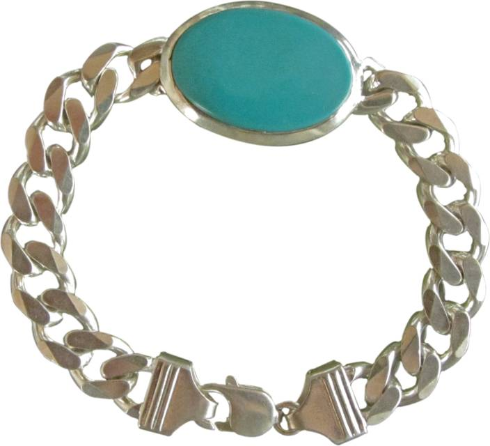 Galaxy Sterling Silver Turquoise Bracelet Price In India Buy
