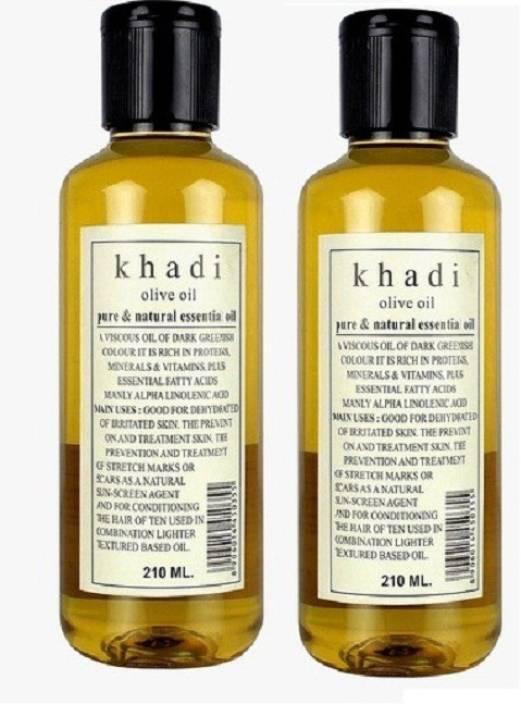 Khadi Herbal Olive Oil - Pure & Natural Essential Oil