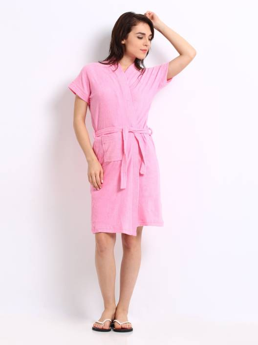 Superior Pink Free Size Bath Robe - Buy Superior Pink Free Size Bath ... dd8e00769