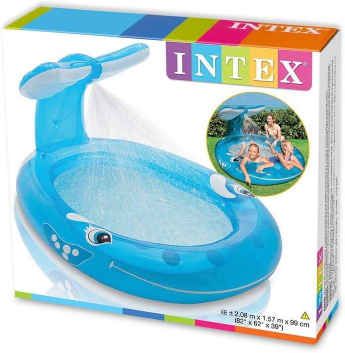Intex Whale Spray Pool Inflatable Pool Price In India Buy Intex Whale Spray Pool Inflatable