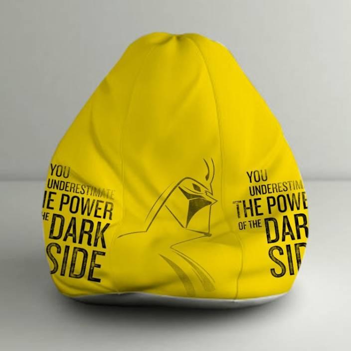 Sensational Orka Xxl Star Wars Dark Side Digital Printed Bean Bag With Machost Co Dining Chair Design Ideas Machostcouk