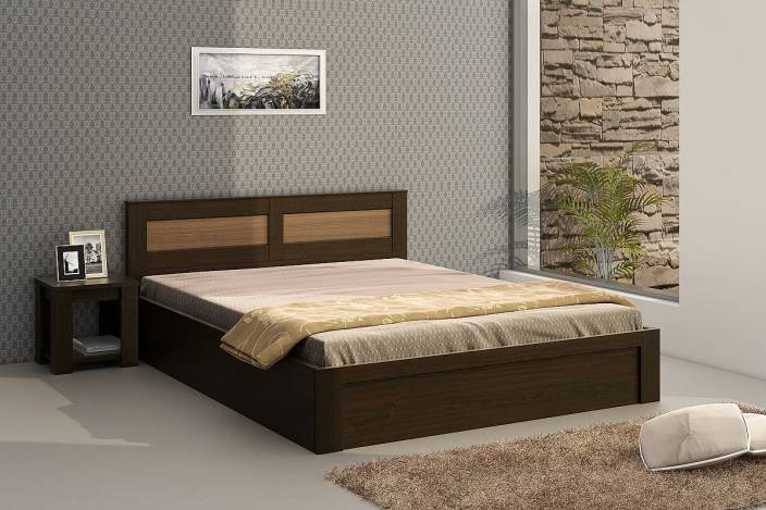 Spacewood Engineered Wood Bed + Side Table Price in India - Buy ...