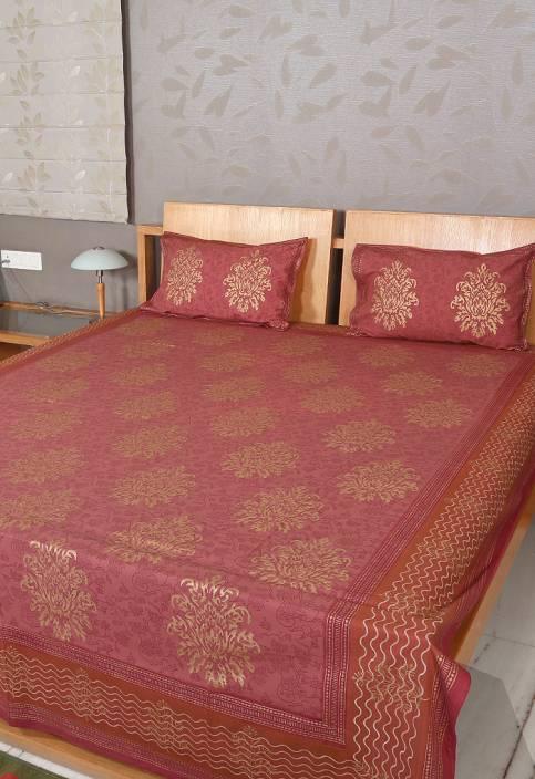 Rajrang 160 TC Cotton Double Motifs Bedsheet