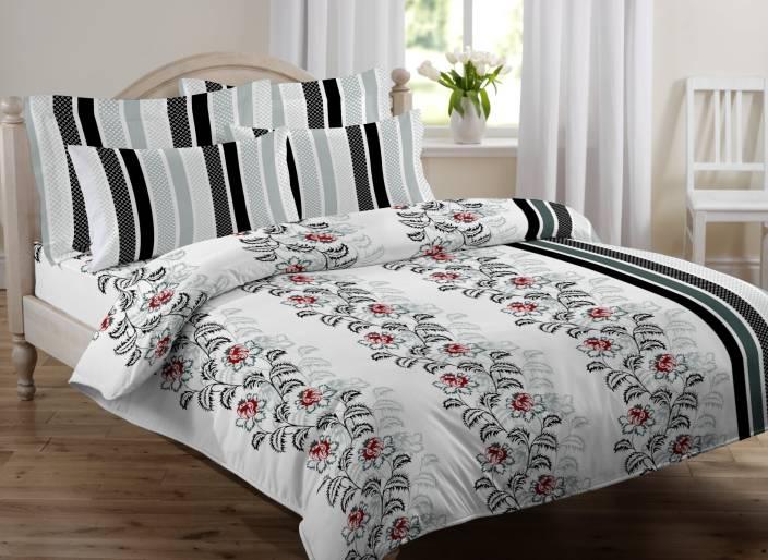 Royal Home 144 TC Cotton Double King Floral Bedsheet