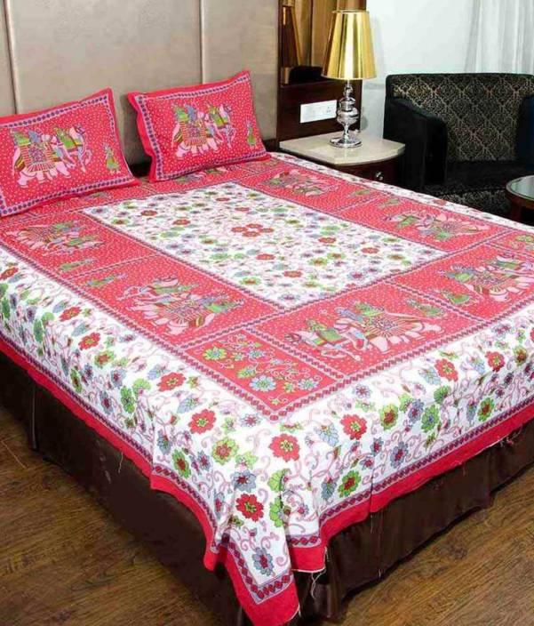 Uniqchoice 210 TC Cotton Double King 3D Printed Bedsheet