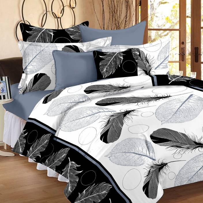 Ahmedabad Cotton Cotton Abstract Double Bedsheet