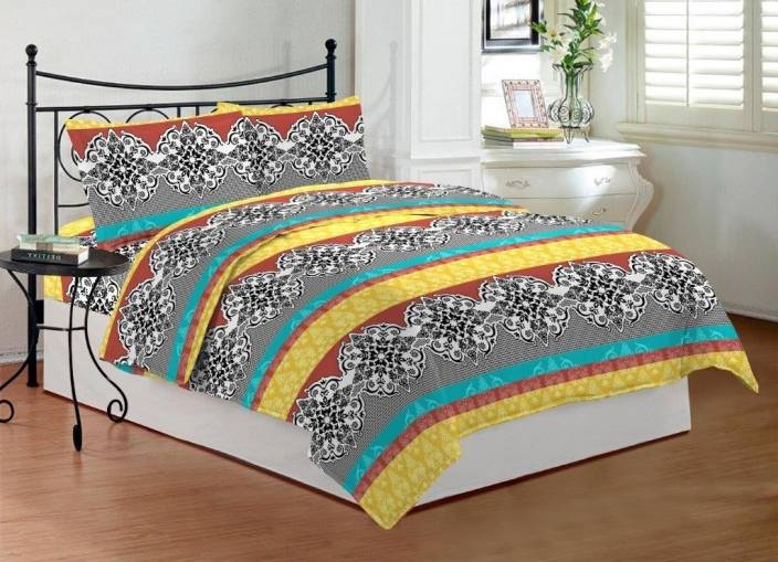 Bombay Dyeing 3 TC Cotton Double Abstract Bedsheet