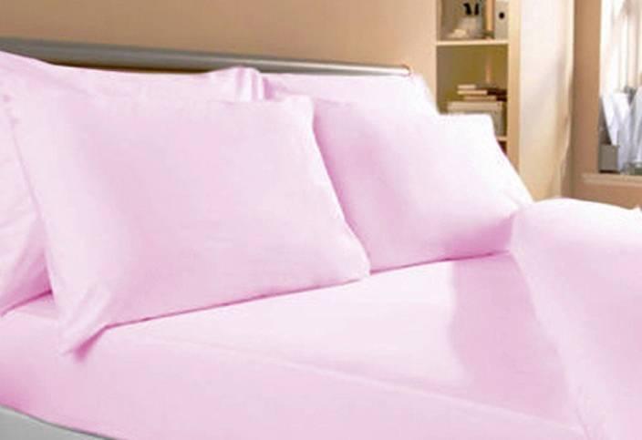 TOP ONE Cotton Plain Double King Bedsheet