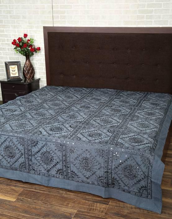 Rajrang 120 TC Cotton Double Floral Bedsheet