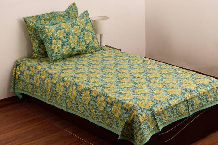 Raaga Textiles Cotton Single Printed Bedsheet