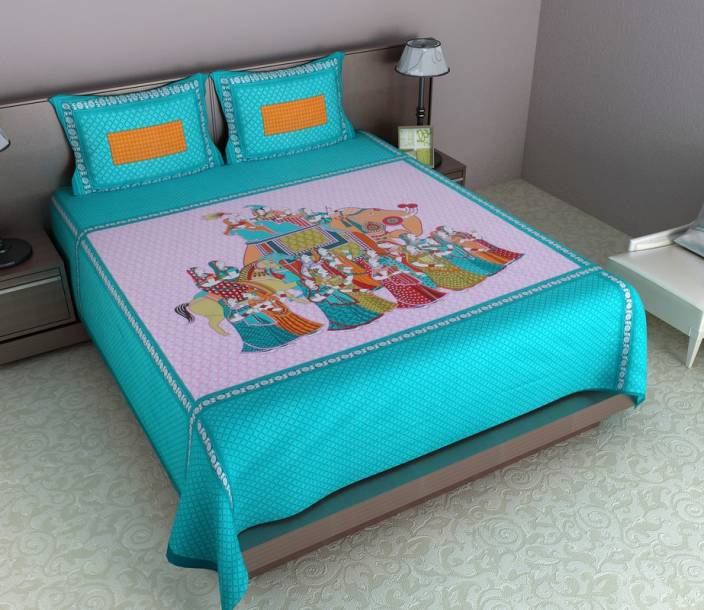 Shilpbazaar 106 TC Cotton Double Printed Bedsheet