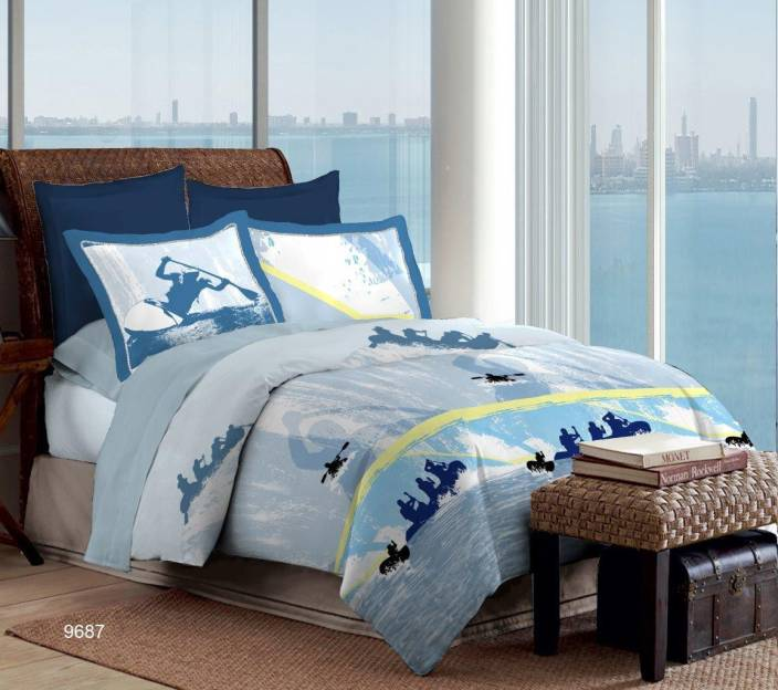 Bombay Dyeing Cotton 3D Printed Double Bedsheet
