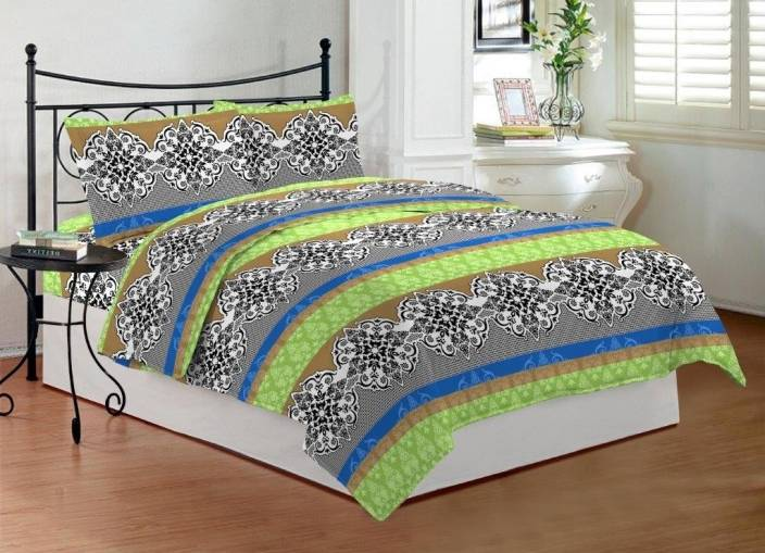 Bombay Dyeing 144 TC Cotton Double Abstract Bedsheet