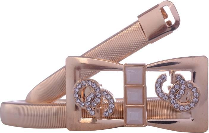 Exotique Women Party Gold Metal Belt