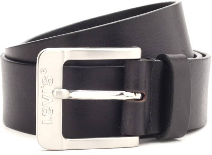 Levi's Men Black Genuine Leather Belt