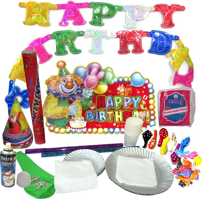 DCS Happy Birthday Party Kit Full For 95 People arrangements
