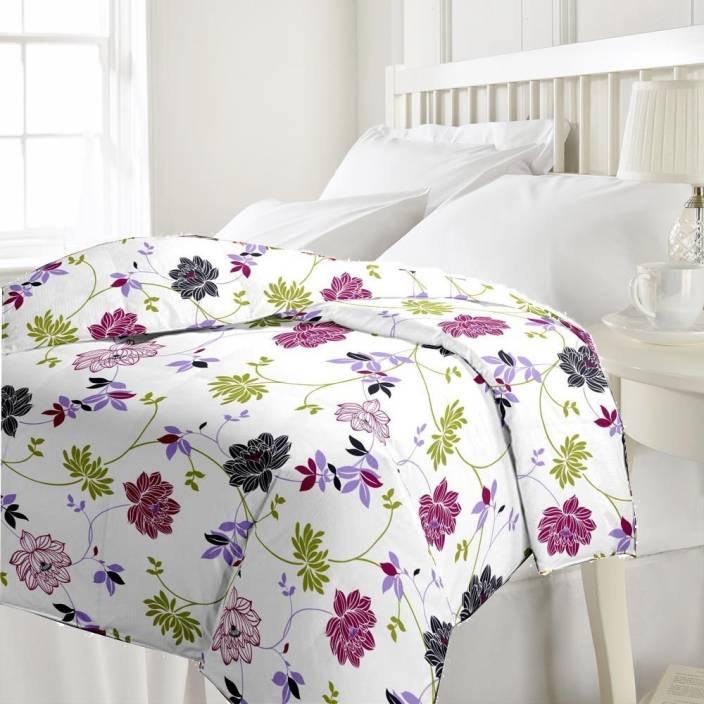 eCraftIndia Floral Single Blanket Multicolor