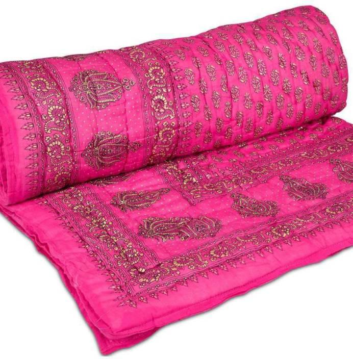 Khushi Enterprises Floral Double Quilt, Comforter Multicolor