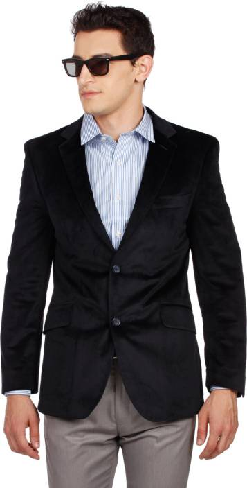 ac5b6f73bd6e Arrow Solid Formal Men's Blazer - Buy Navy Arrow Solid Formal Men's ...