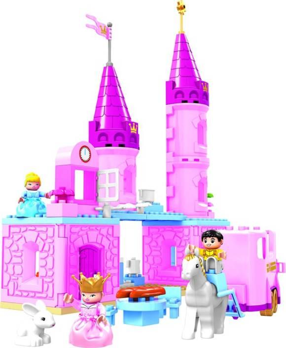Toys Bhoomi Princess Cinderella's Castle Set – 63 Pieces