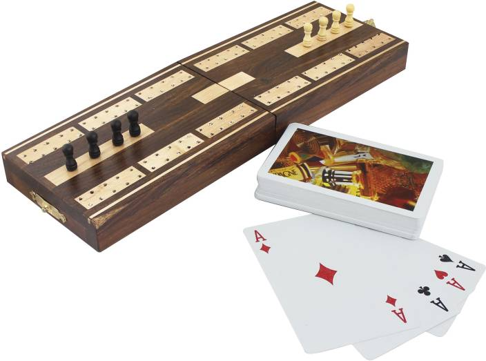 RoyaltyLane Wooden Board Card Game - Cribbage Boards and