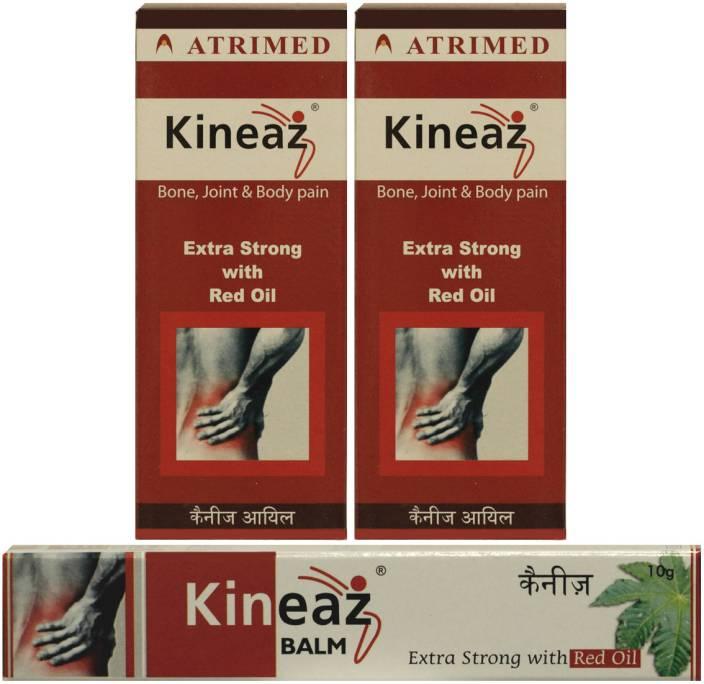 Atrimed Kineaz Liniment & Balm for bone, joint & body pain Combo set(Set of 3) Oil