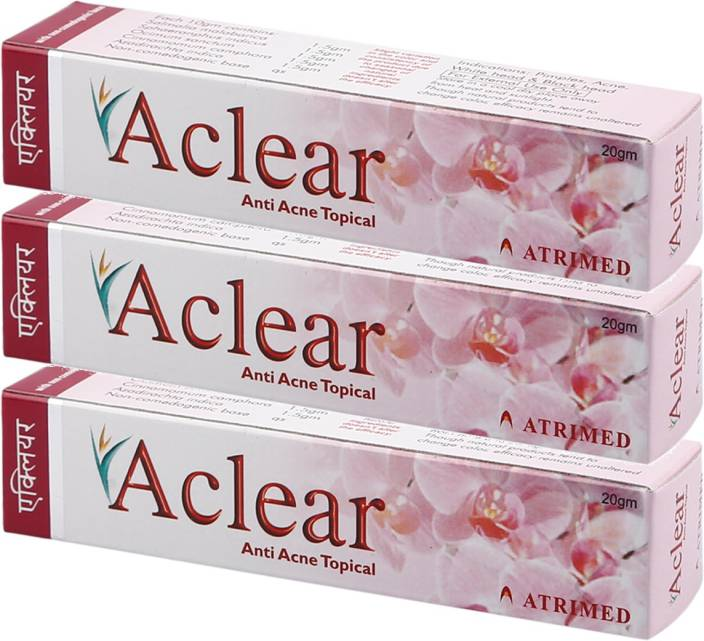 Atrimed Aclear Anti Acne Topical Pack of 3