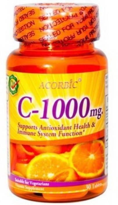 Acorbic Vitamin C 1000 mg. Skin Whitening Antioxidant & Immune System (30 g)