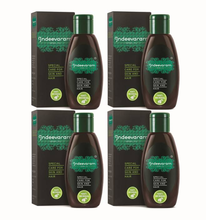 Indeevaram Special Care for Skin and Hair - 100ml x 4