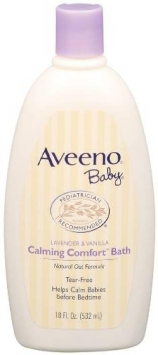 Aveeno Calming Comfort Bath, Lavender & Vanilla, 18-Fluid Ounce Bottle
