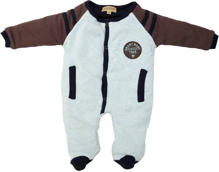 a3be668c0 little studio Baby Boys Grey Bodysuit - Buy LIGHT GREY MELANGE AND ...