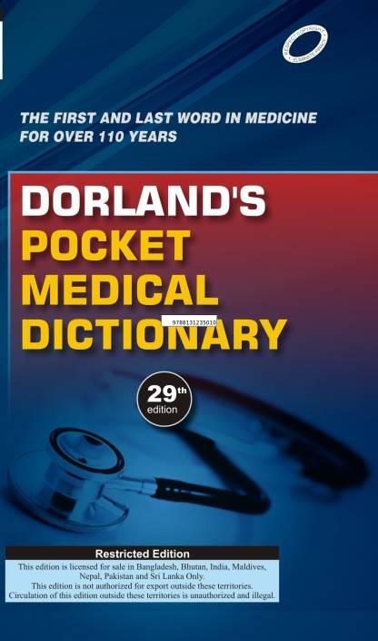 Dorlands Pocket Medical Dictionary 29th Edition Buy Dorlands