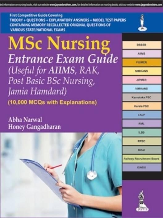 MSc Nursing Entrance Exam Guide - 10,000 MCQs with