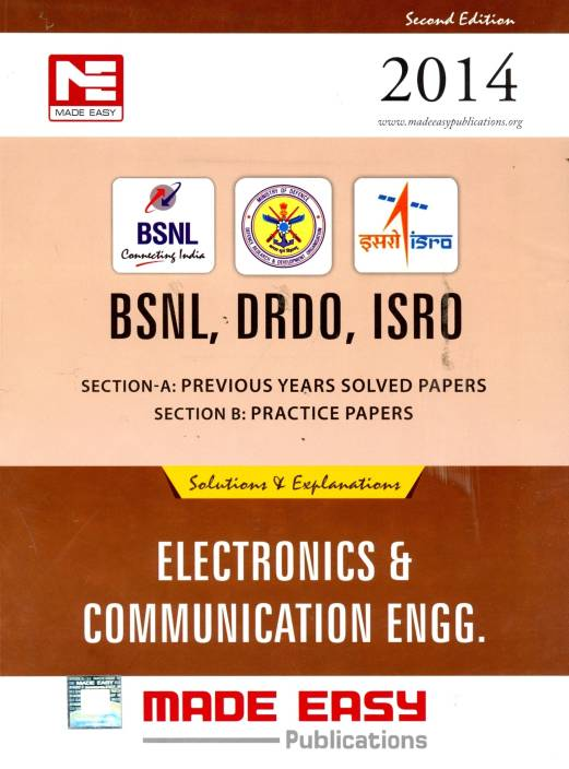 BSNL DRDO ISRO: Electronic And Communication Engineering Previous Year Solved Papers And Practice Papers 2/e
