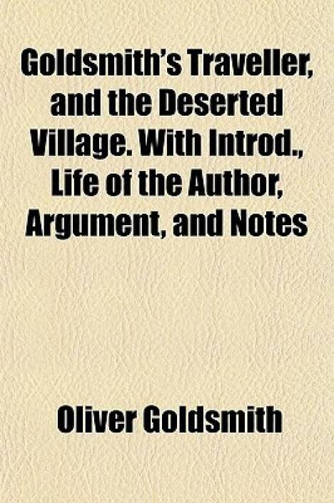 a literary comparison and contrast of goldsmiths the deserted village and crabbes the village Several of his ancestors had been men of literary taste and by a process of comparison in which christianity is becomes the centre of the village.