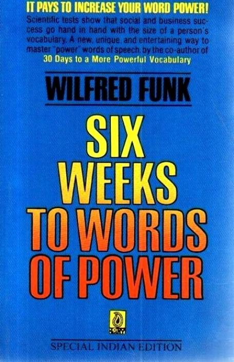Six Weeks To Words Of Power, 1/e PB 1 Edition