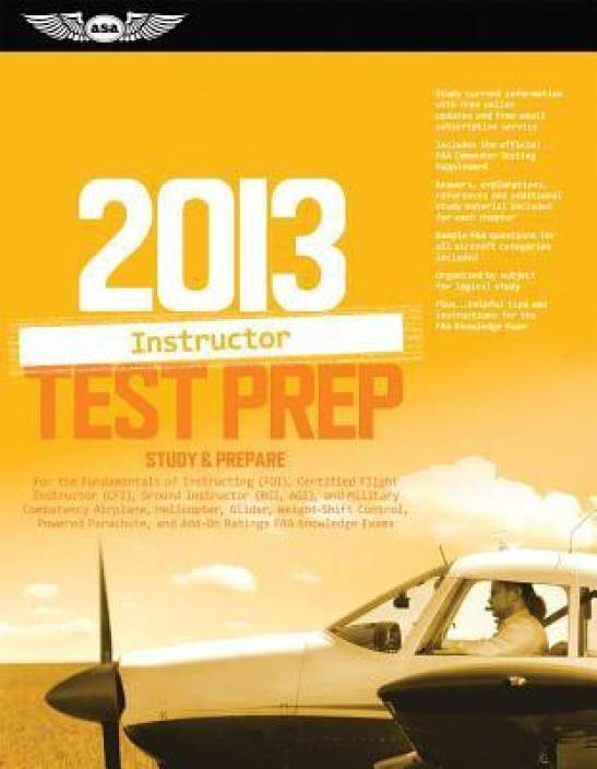 f9bd5247be5 Certified Flight Instructor Test Prep  Study   Prepare for the Ground