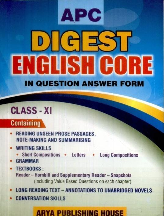 APC Digest English Core in Question Answer Form (Class - 11)