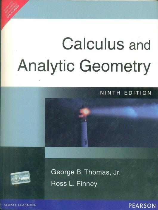 Thomas Finney Calculus 9th Edition Ebook