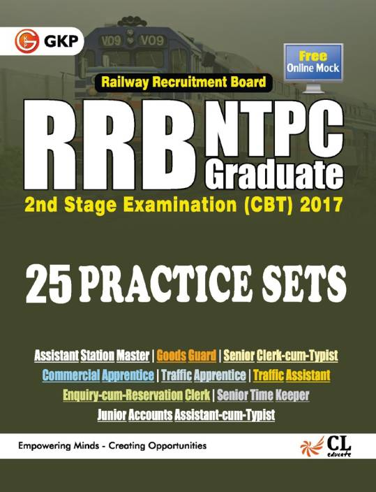 RRB NTPC 25 Practice Sets - Stage 2 Exam (CBT) 2017