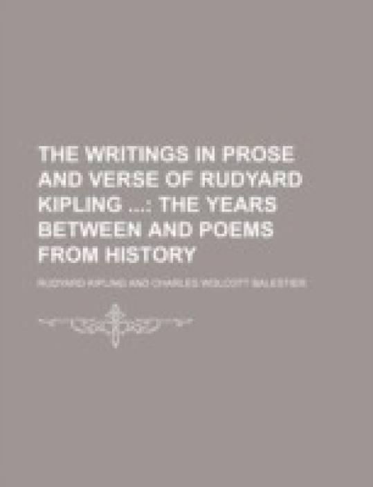 The Writings In Prose And Verse Of Rudyard Kipling Volume