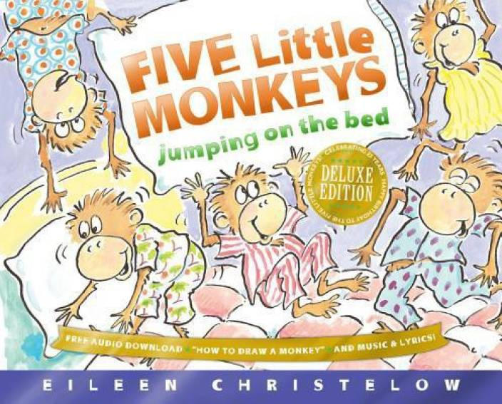 Five Little Monkeys Jumping On The Bed 25th Anniversary Edition English Hardcover Eileen Christelow