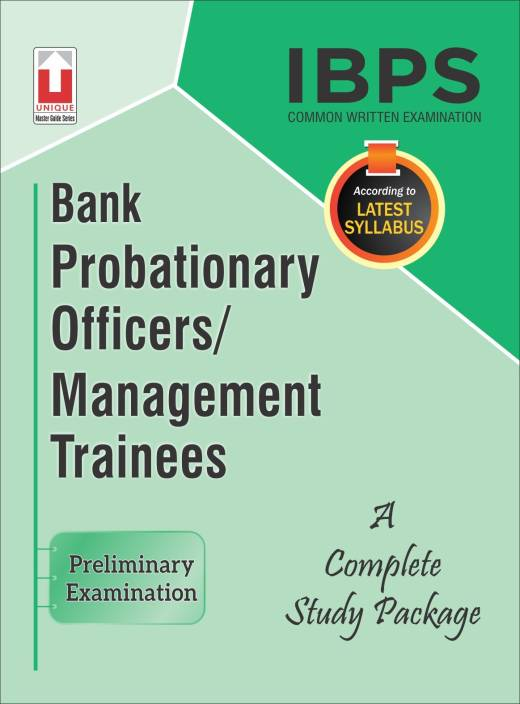 IBPS CWE Bank Probationary Officers/Management Trainees Guide Preliminary Examination (18.75)