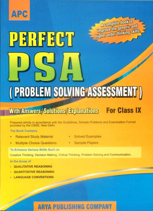 Perfect PSA Problem Solving Assessment with Answers/Solutions/Explanations  for CBSE Class - 9 1st Edition 1st Edition