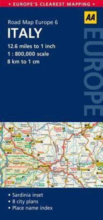 Road Map Of Italy In English.Road Map Italy Buy Road Map Italy By Aa Publishing At Low Price In