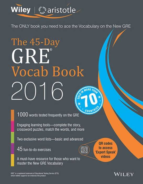 Wiley's The 45-Day GRE Vocab Book 2016: Buy Wiley's The 45